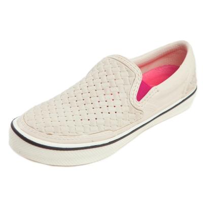 (男/女)Ponic&Co美國加州環保防水編織懶人鞋-米色