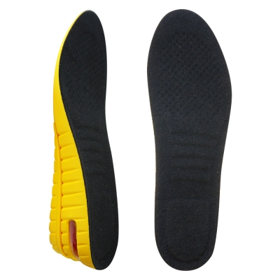 足的美形 輕盈舒適雙層增高鞋墊-最高可增高4.8cm 黑(2雙)