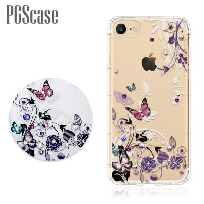 PGS iPhone 8 / 7 4.7吋 奧地利彩鑽防摔手機殼-蝶舞