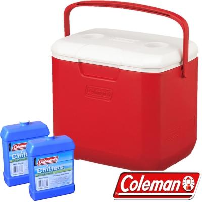 Coleman 27862_美利紅 28L Excursion行動冰箱+冷媒*2 公司貨保