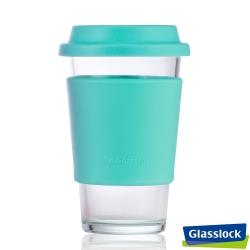 Glasslock馬卡龍強化玻璃環保隨手杯 380ml(藍)