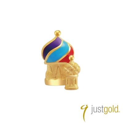 鎮金店Just Gold 黃金釉彩單耳耳環 繽紛派對 俄羅斯皇宮