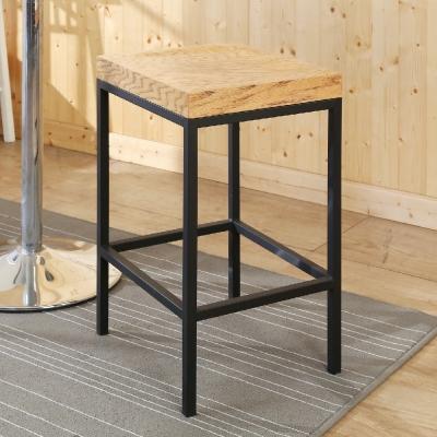 BuyJM工業風方塊實木吧檯椅/寬35x40x63公分-免組裝
