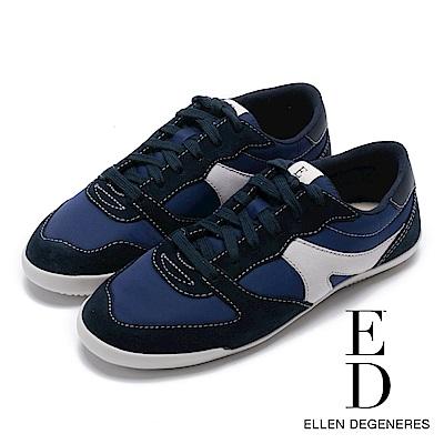 ED Ellen DeGeneres 輕量流線拼接休閒鞋-藍色