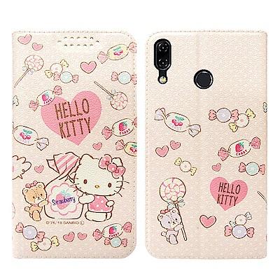 Hello Kitty貓 ASUS Zenfone 5Z 粉嫩系列彩繪磁力皮套(...