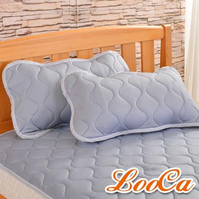 LooCa 新一代酷冰涼枕用保潔墊2入(灰)