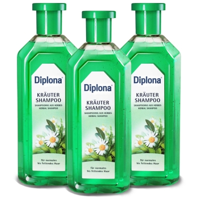 德國Diplona專業沙龍級清新七大草本洗髮精500ml三入