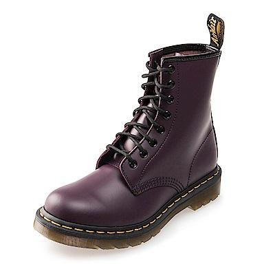 (女)Dr.Martens 經典1460W 8孔亮皮馬汀靴*紫色