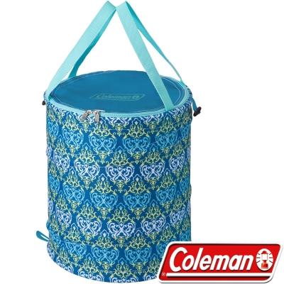 Coleman 21914 藍葉圖騰萬用魔術桶 壓縮水桶/垃圾桶/摺疊桶/收納桶/食物儲存