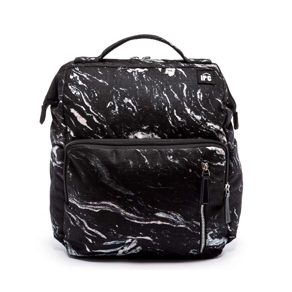 IPC鐵框口後背包-黑色漩渦紋