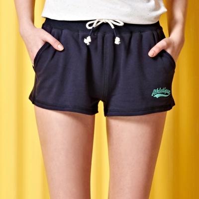 短褲-繡花細絨棉短褲-2色-CACO