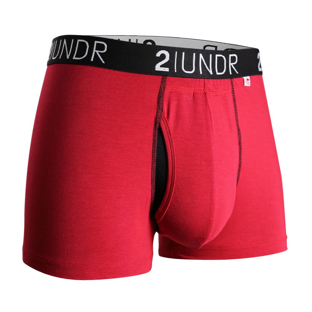 2UNDR Swing Shift 莫代爾吸排四角內褲(3吋)-紅色