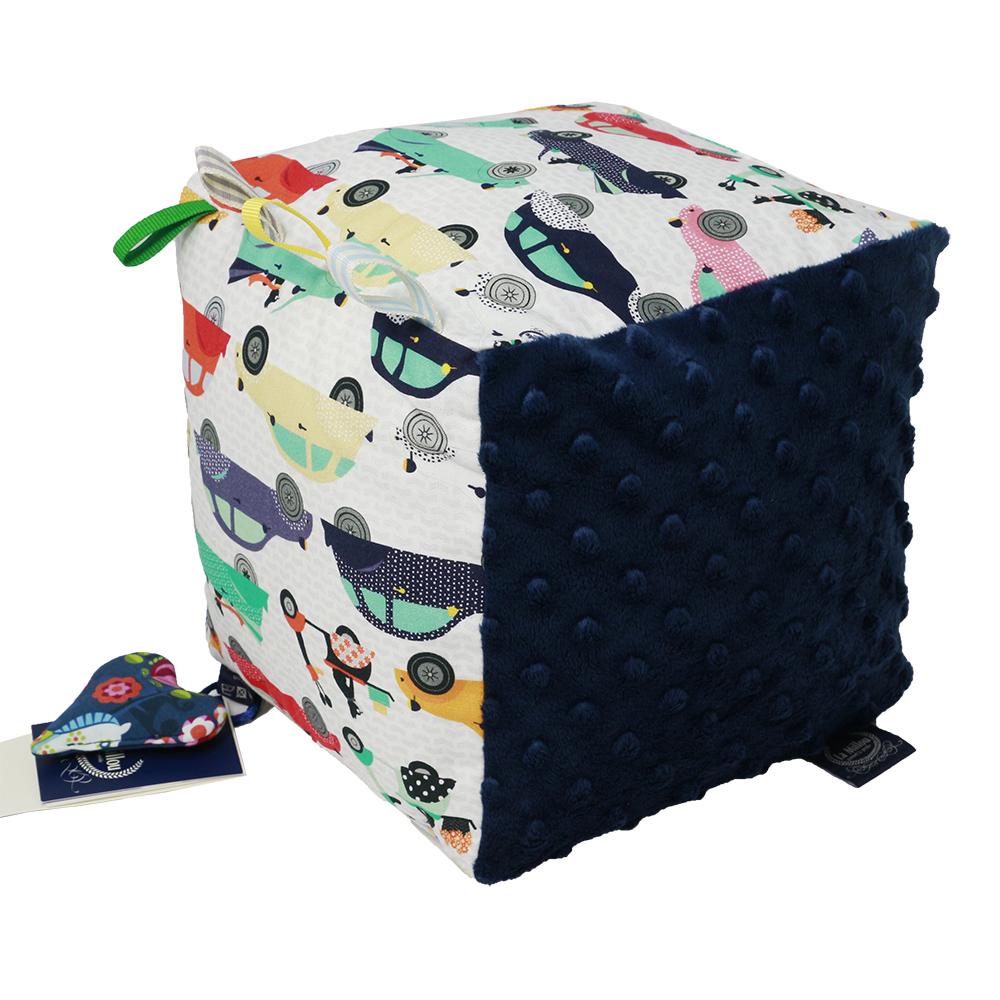 安撫玩具La Millou 標籤五感豆豆球-法鬥噗噗車(勇氣海軍藍)