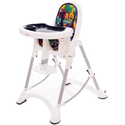 myheart 折疊式兒童安全餐椅 - 卡通藍