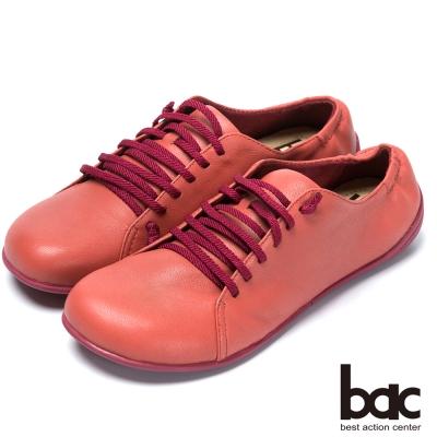 bac時尚樂活 舒適綁帶羊皮休閒鞋-紅