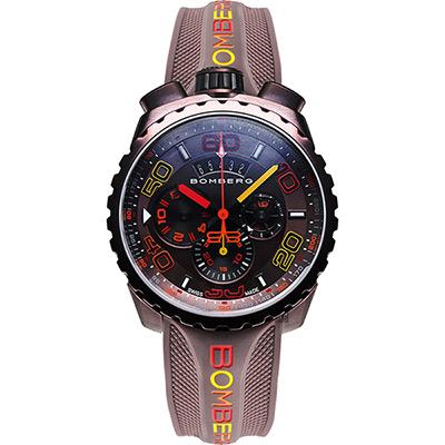 BOMBERG 炸彈錶 BOLT-68 童趣馬卡龍計時手錶-咖啡/45mm