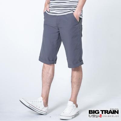 BIG TRAIN 透氣涼感休閒短褲-男-鐵灰