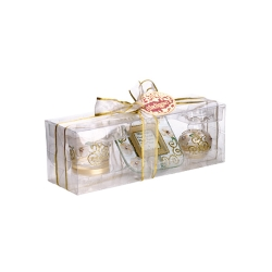 Madiggan玫瑰系列手工彩繪迷你三件小禮盒(紫色.金黃.粉紅可選)