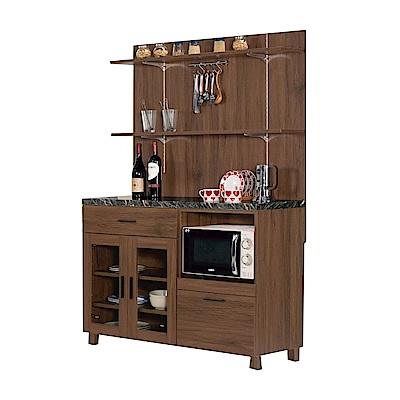 品家居 溫妮費3.9尺石面二抽餐櫃組合(二色)-117.5x42.3x175cm免組