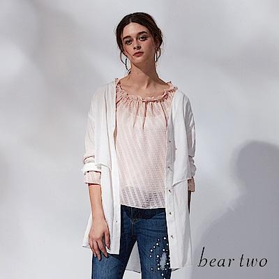 beartwo 絲感開扣造型上衣(二色)