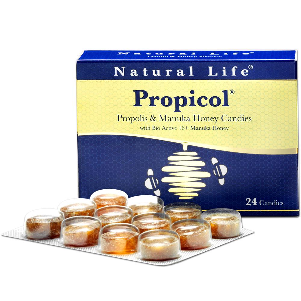 澳洲Natural Life活性麥蘆卡蜂蜜蜂膠潤喉糖