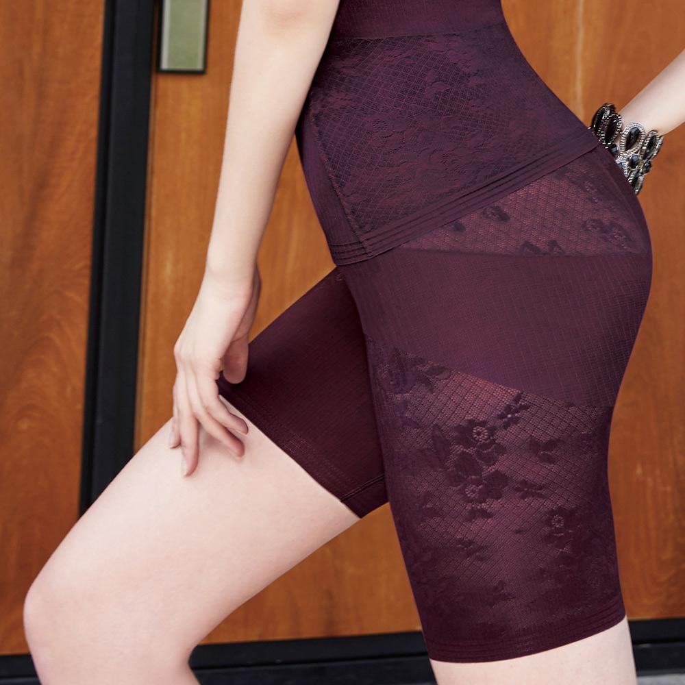 曼黛瑪璉 美型顯瘦 中腰中管束褲S-XL(復古紫)