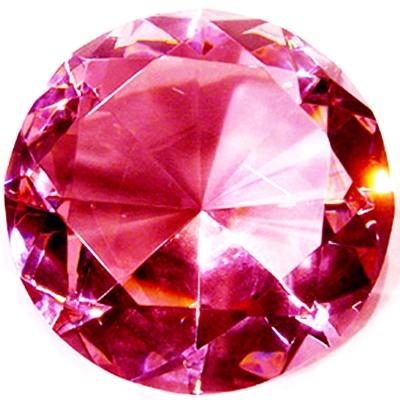 開運陶源 (大)Diamond奧地利水晶鑽石 粉鑽(穩賺)加底座