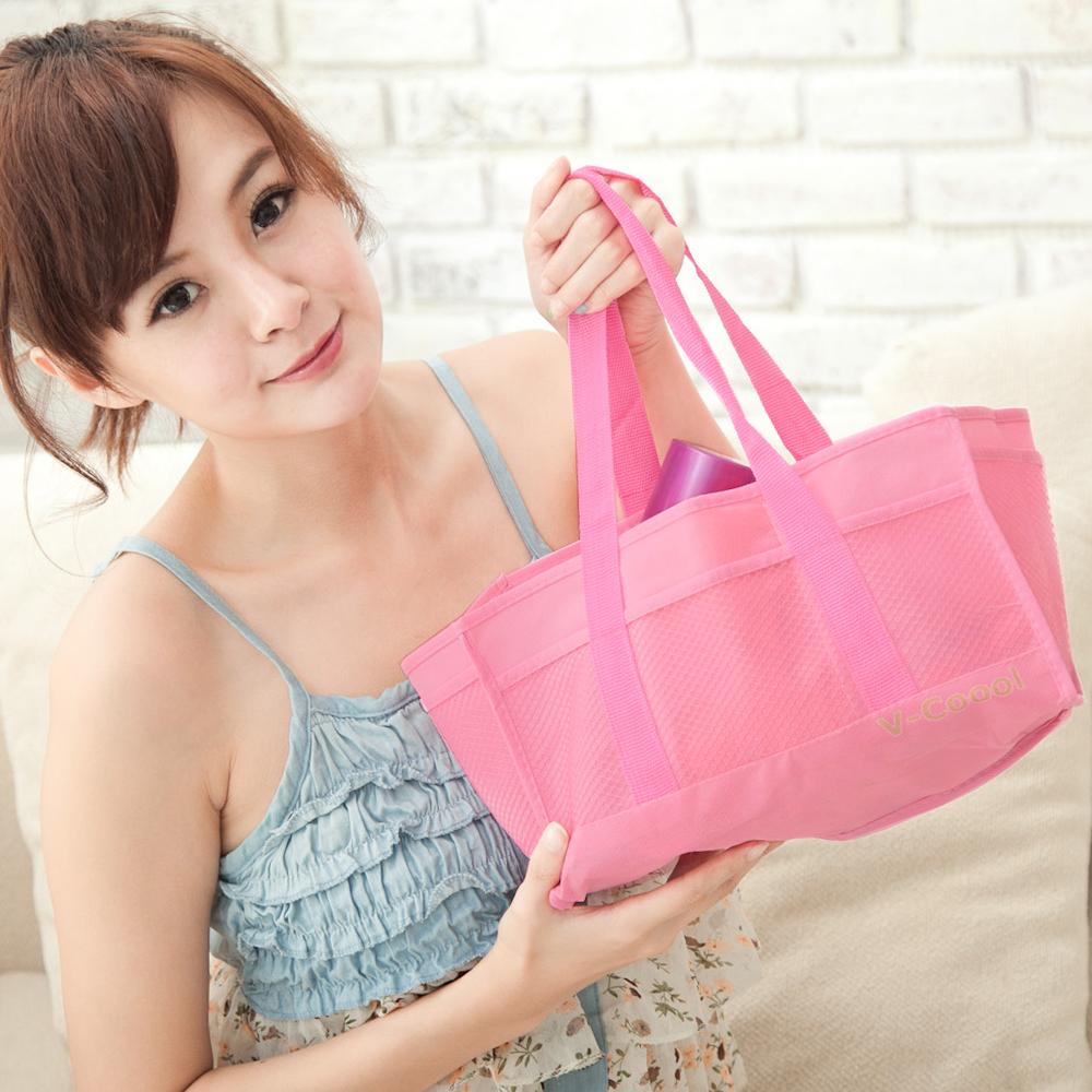 B.P. 素面手提媽媽包內袋/收納包/分隔袋-粉色