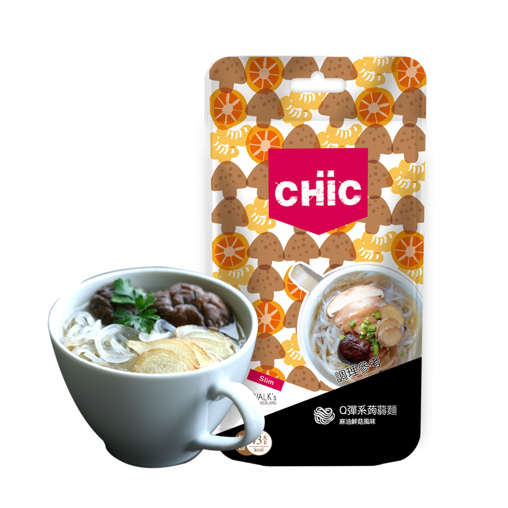 CHiC Q彈系蒟蒻麵-麻油鮮菇風味(3份/袋)