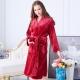 睡衣 極暖柔軟水貂絨女性長袖睡袍(29242)酒紅色-蕾妮塔塔 product thumbnail 1