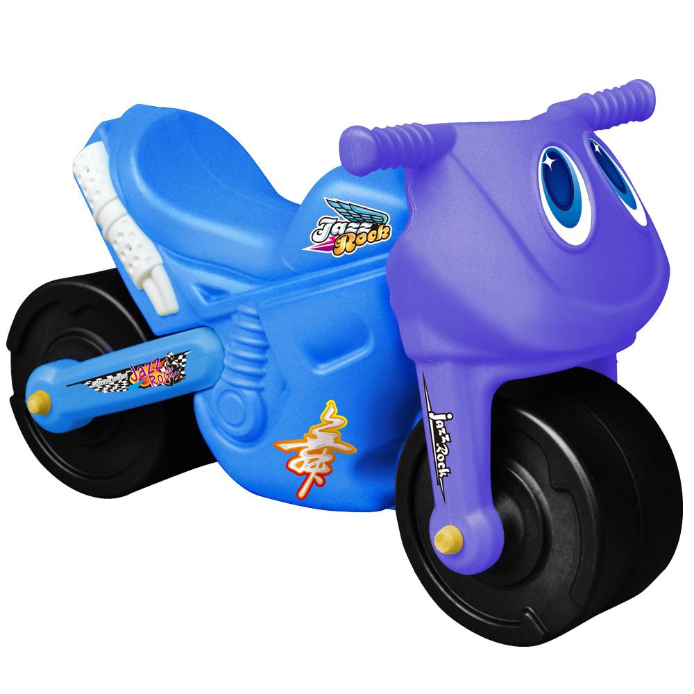 寶貝樂 小爵士摩托車造型學步助步車(藍)
