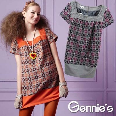 【Gennie's奇妮】淘氣普普風羊毛孕婦上衣(G3232)