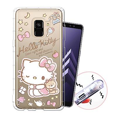 三麗鷗授權 Samsung Galaxy A8+(2018) 甜蜜系列彩繪空壓殼...