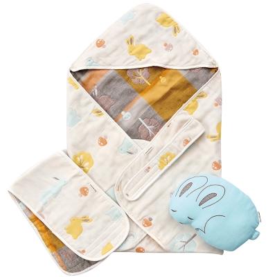 奇哥 快樂森林六層紗包巾禮盒