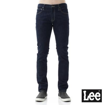 Lee 牛仔褲 709低腰合身小直筒素面牛仔褲/RG- 男款-深藍