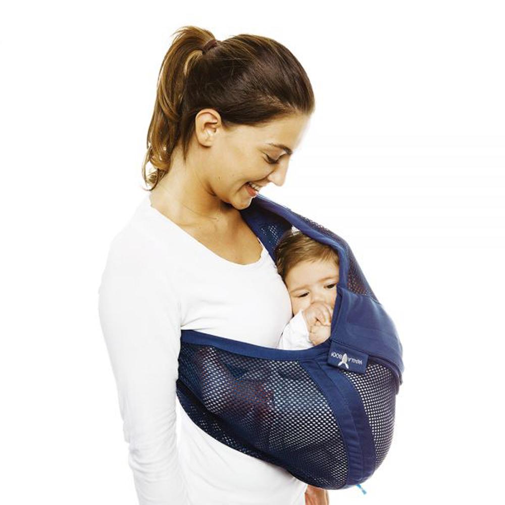 Wallaboo-AIR空氣版極輕袋鼠背巾-深藍色