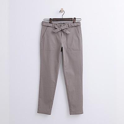 Hang Ten - 女裝 - 綁帶錐版修身長褲-卡其色