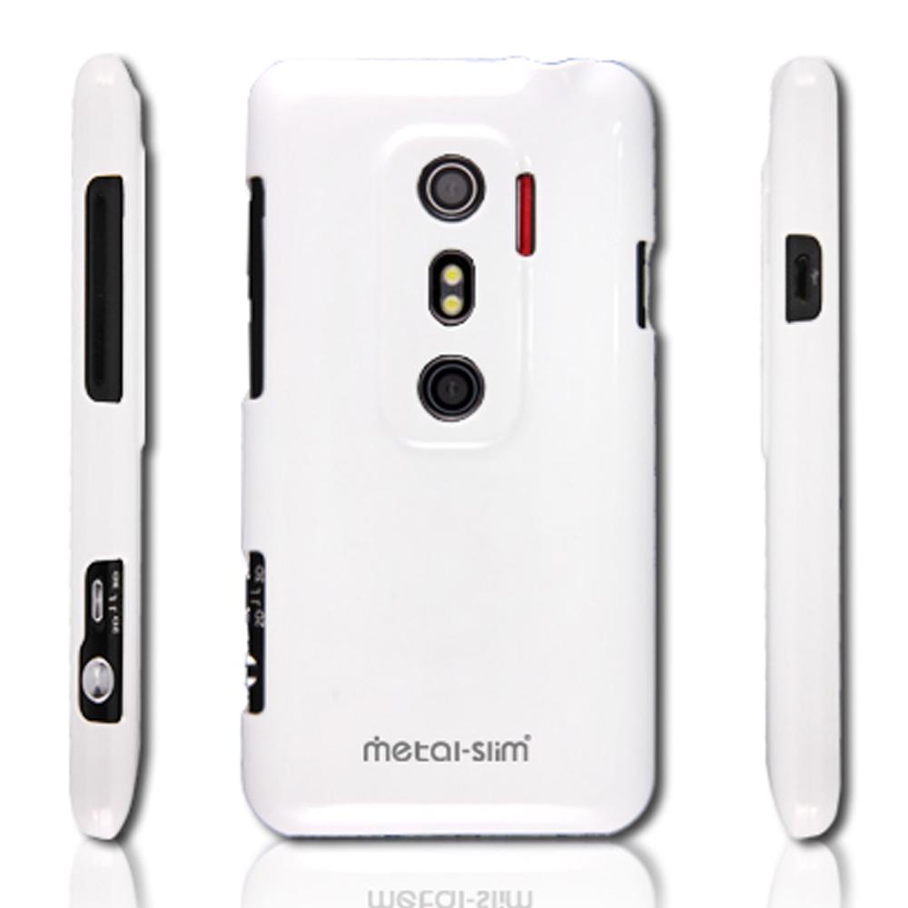 Metal-Slim 彩色系列 HTC EVO 3D保護殼(時尚白)