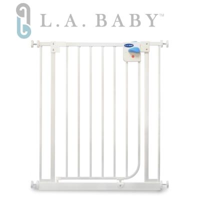 美國 L.A. Baby  加高加寬-安全自動上鎖幼兒鐵門欄 / 寵物柵欄(贈兩片延伸件)