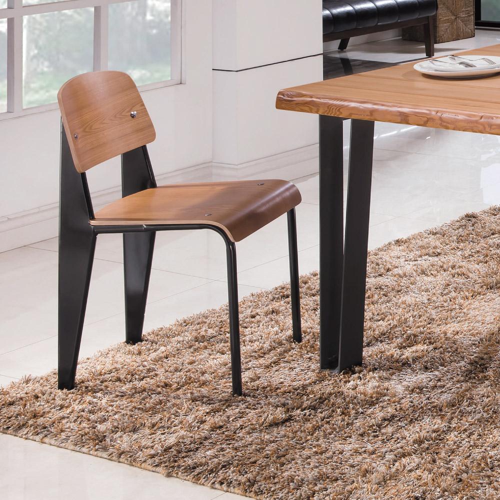 工業風 拉爾斯特餐椅(兩入一組)-43x42x80cm