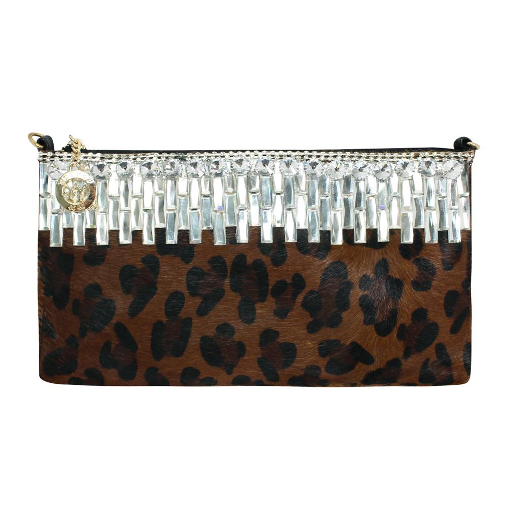 Dennibella 丹妮貝拉 - 斜背/側背/肩背/手提 -動物系-豹紋馬毛手拿晚宴包包