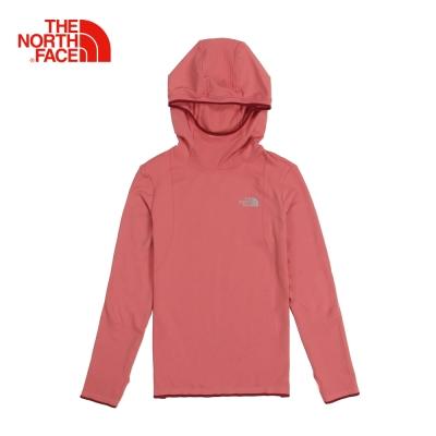 The North Face北面女款玫紅色彈力速乾透氣長袖T恤|363XUBG