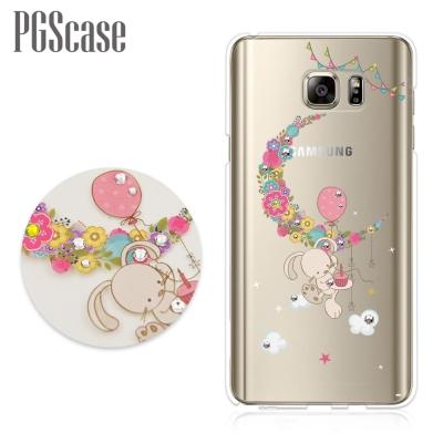 PGS Samsung Galaxy Note5 奧地利彩鑽手機殼-小兔安妮