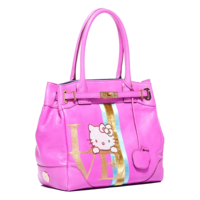 A.D.M.J. LOVE KITTY COVA TOTE (FUXIA PINK)