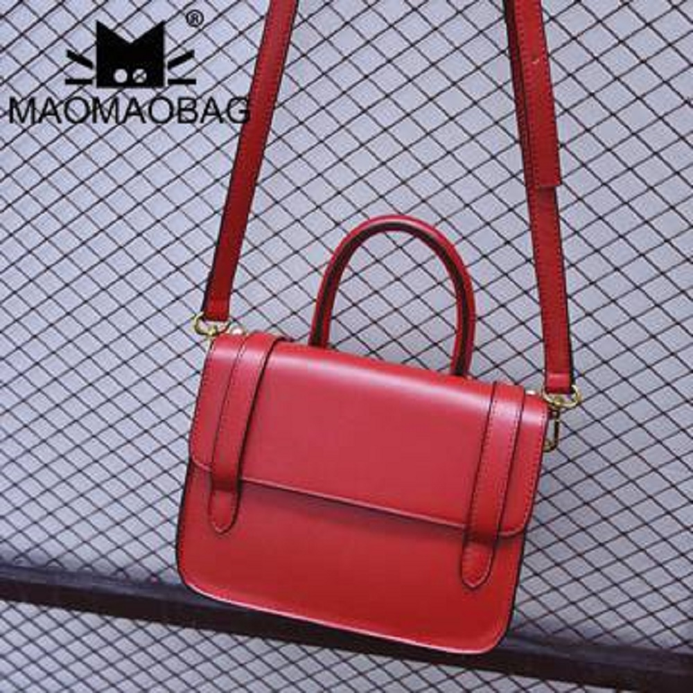 MaoMaoBag-時尚百搭單肩手提包-紅