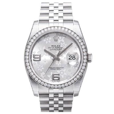 ROLEX 勞力士 DATEJUST 116244恒動日誌型花面腕錶-銀白/36mm