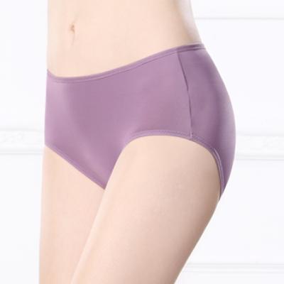 可蘭霓Clany  透氣柔軟Tactel L-XL 中腰褲 高貴紫