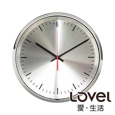 Lovel 31cm工業極簡鐵框魚眼鏡面靜音時鐘-共2款