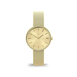 Newgate-ATOM-時尚金-金色錶面-不鏽鋼米蘭帶-32mm