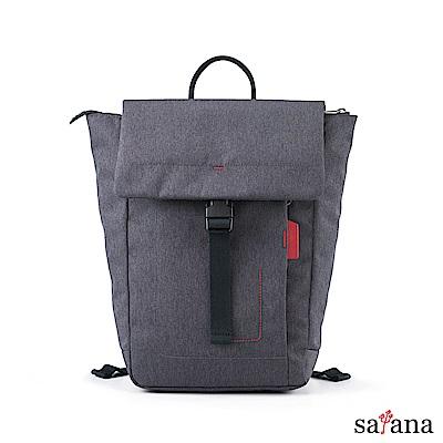 satana - Fresh 輕職人俐落率性後背包 - 麻花黑